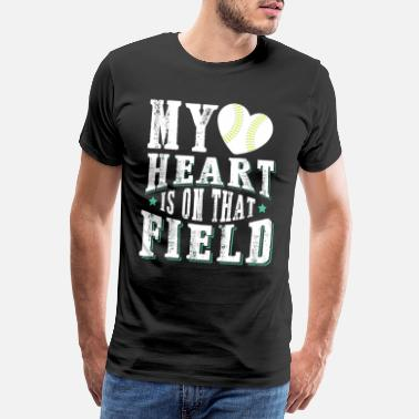 Pitcher Baseball sport heart team - Men's Premium T-Shirt