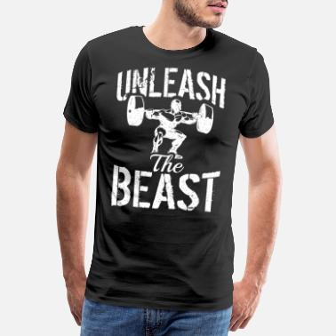 Testosterone Unleashed Beast - Fitness Strength Training Gym - Men's Premium T-Shirt