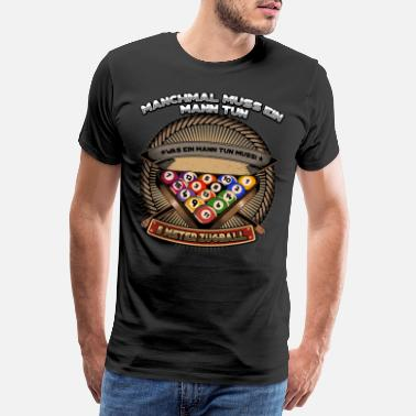 8ball Biljard Snooker - Premium T-skjorte for menn