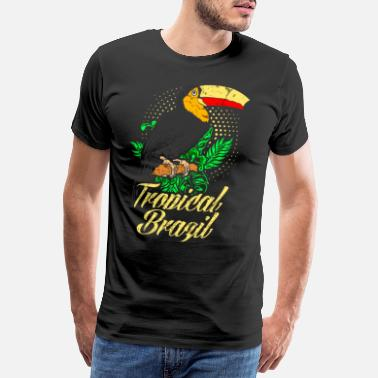 a7c3d1864 Rainforest Bird Brazil tropical rainforest bird toucan - Men's Premium  T-. Men's Premium T-Shirt