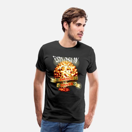 Fungal T-Shirts - Atomic explosion - mushroom cloud - atomic energy - Men's Premium T-Shirt black