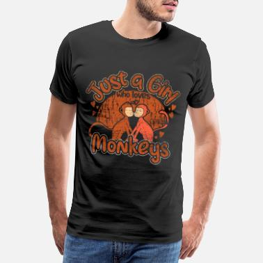 Chimpanze Animal fille singe - T-shirt premium Homme