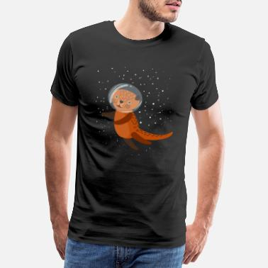 Observation Otter Forest Zoo - Men's Premium T-Shirt