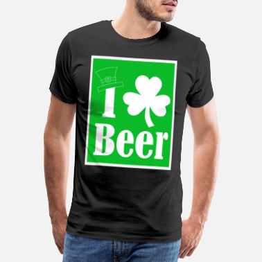I Love Ireland I Love Beer St Patricks Day - St. Patricks Tag - K - Männer Premium T-Shirt