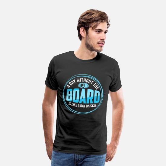 Gift Idea T-Shirts - snowboarding - Men's Premium T-Shirt black