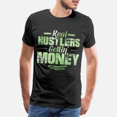 Cash Hustle hip hop rap saying money - Men's Premium T-Shirt