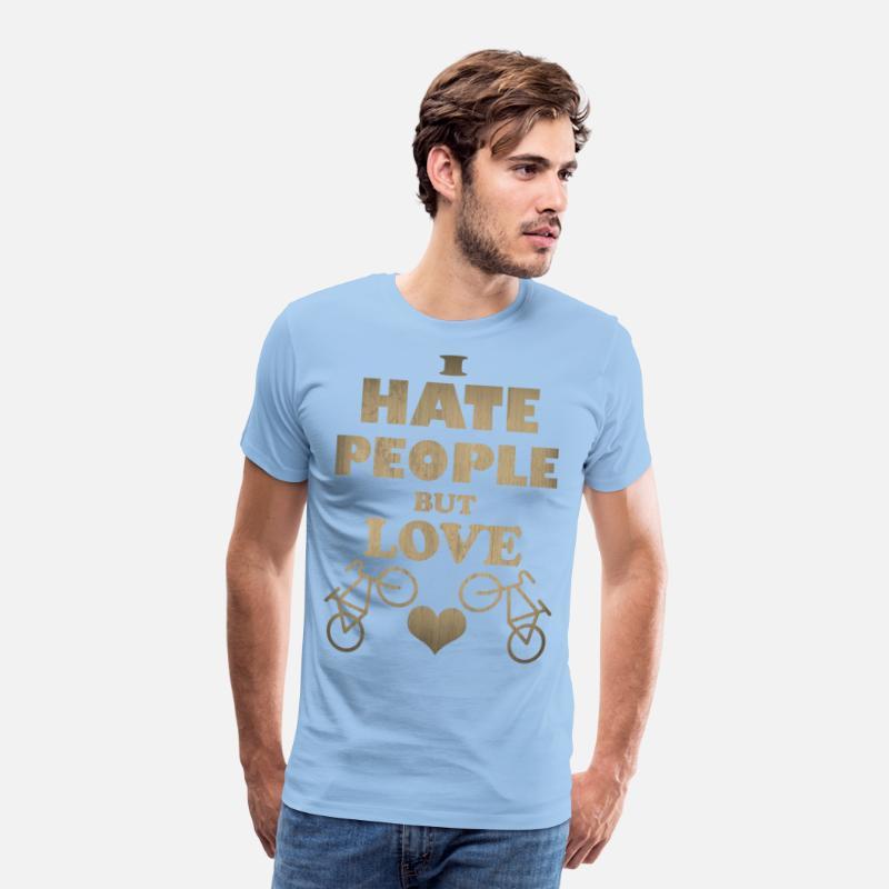 96926e2fd25459 Mam ludzi, ale kocham rowery Premium koszulka męska   Spreadshirt