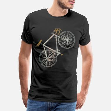 Cyclist For cycling a  vintage road bike - Men's Premium T-Shirt