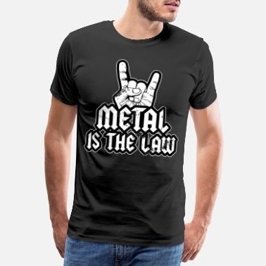 Heavy Metal Is The Law Metalhead French Fork Festival - Premium T-shirt mænd