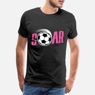 Midfielder Soars football gift for kids birthday - Men's Premium T-Shirt