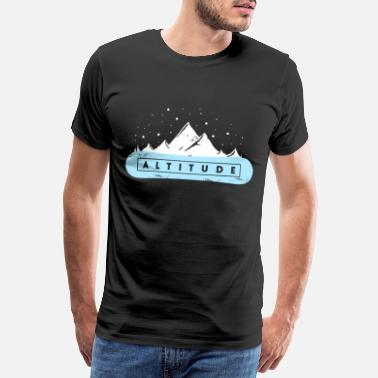 Teenager Height Christmas Gift Altitude Snowboard - Men's Premium T-Shirt