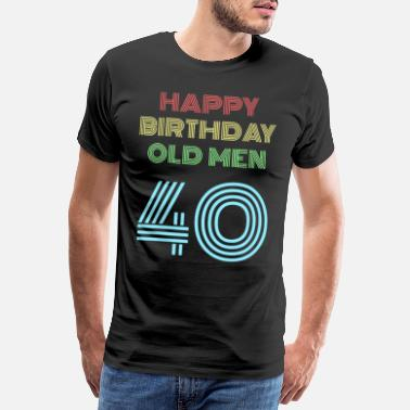 70s 40th birthday 40 years birthday present for the 40th - Men's Premium T-Shirt