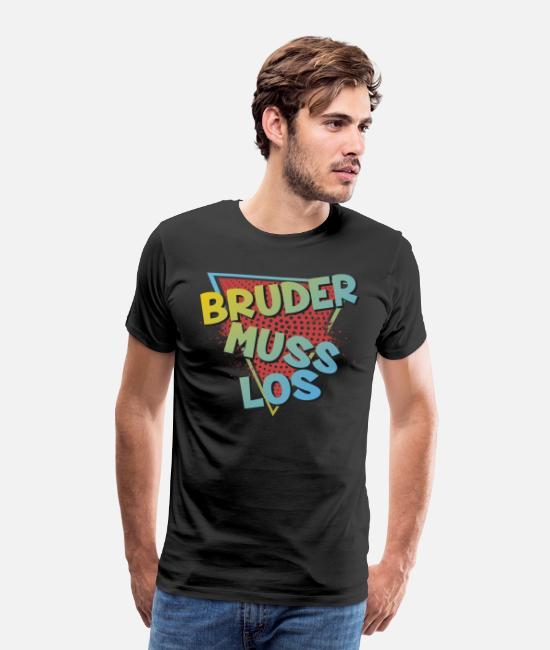 Bruder Muss Gross I Streamer Meme Geschenk I Nerd und Gamer Langarmshirt