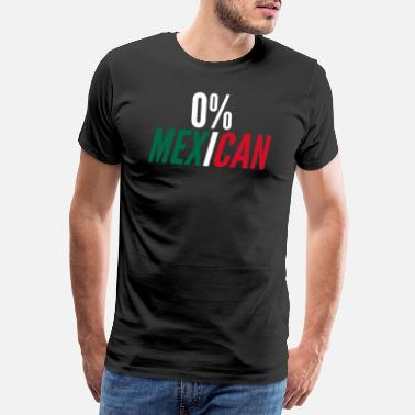 Tequila 0% Mexicain Funny Cinco De Mayo Mexico Fla - T-shirt premium Homme