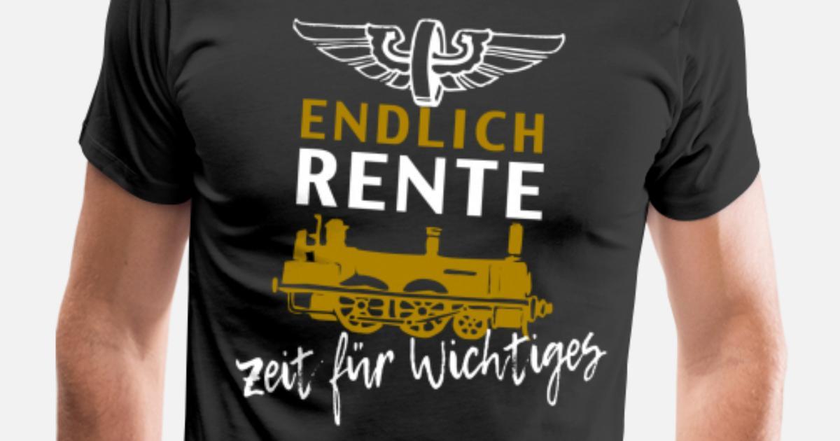 Idée Cadeau Retraite Homme.Pension Locomotive Idée Cadeau Retraite T Shirt Premium Homme Spreadshirt