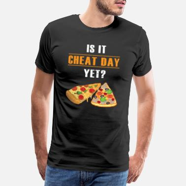 Gastrónomo Regalo divertido de Cheat Day Pizza Fitness - Camiseta premium hombre