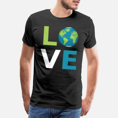 Libro Regalo fresco de Earth Love Planet - Camiseta premium hombre