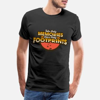 Tour Cadeau cool de World Trip Memories Empreintes - T-shirt Premium Homme