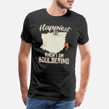 Abseiling Bouldering Happy Climbing Sport Cool Gift - Men's Premium T-Shirt