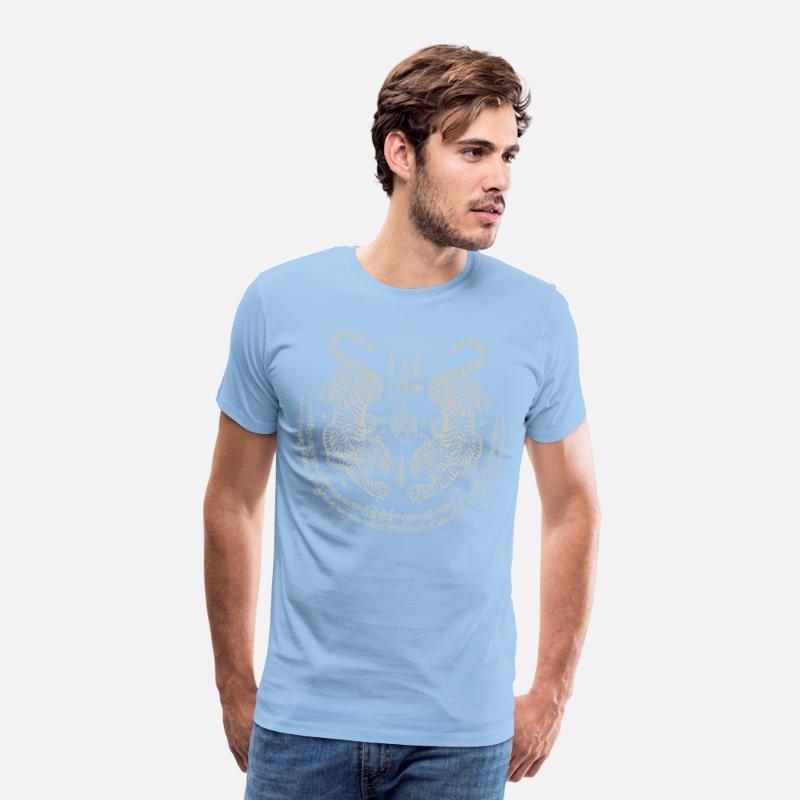 71746b5662052 Sak Yant Thai Tattoo Twin Tiger Muay Thai Gift Men's Premium T-Shirt    Spreadshirt