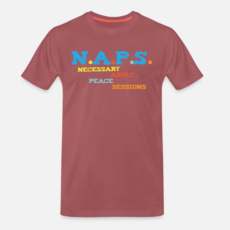 Chill Out Power Nap Definition Funny Gift Men's Premium T-Shirt - washed  burgundy