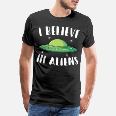 Shipping Aliens faith existence nerd - Men's Premium T-Shirt