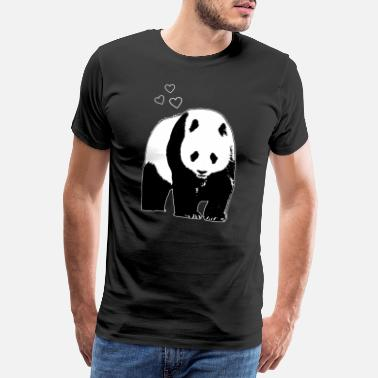 Mountain Bear Panda sleep rest - Men's Premium T-Shirt