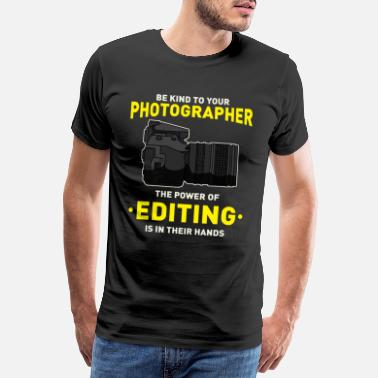 Montage Photo Photographe appareil photo SLR éditeur de montage photo - T-shirt premium Homme