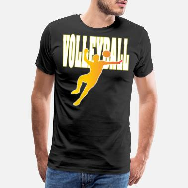 Volleyball Butterfly Volleyball Match Gift - T-shirt premium Homme