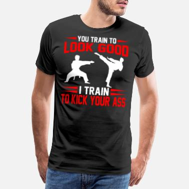 Kick Kung Fu Karate Fighter Gift I Arts martiaux - T-shirt premium Homme