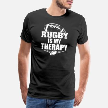 Sporty Rugby player sayings | Sports team gifts - Men's Premium T-Shirt