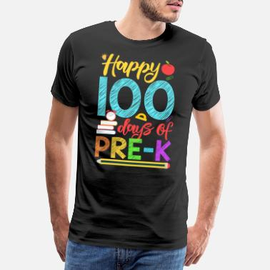 2nd Grade Happy 100 Days of Pre K Shirt for Teacher or Child - Men's Premium T-Shirt