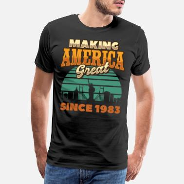 Sidder Making America Great since 1983 Vintage Birthday - Premium T-shirt mænd
