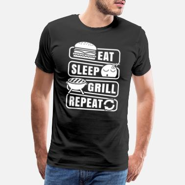 Moms Funny BBQ Barbeque Grill Shirt Gift - Men's Premium T-Shirt