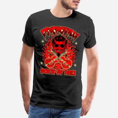 Rockabilly Rockabilly Vintage Rocker Rock N Roll Psychobilly - Premium T-skjorte for menn