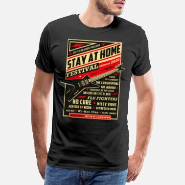Social Distancing Quarantäne Social Distancing Stay Home Bands 2020 - Männer Premium T-Shirt