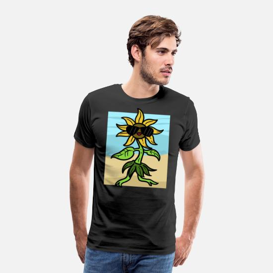 Sunglasses T-Shirts - Green plant sunglasses Green plant sunglass - Men's Premium T-Shirt black