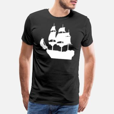Sail Boat Sailing Ship Pirate Ship Gift T-Shirt - Men's Premium T-Shirt