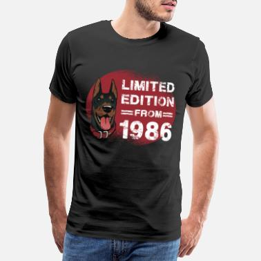 Dobberman Født i 1986, dog limited edition Bday - Premium T-shirt mænd