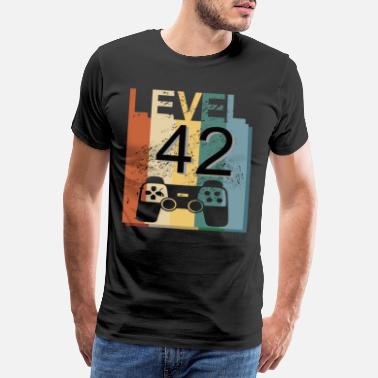 Turn Of The Year Level 40, vintage shirt for 42nd birthday - Men's Premium T-Shirt