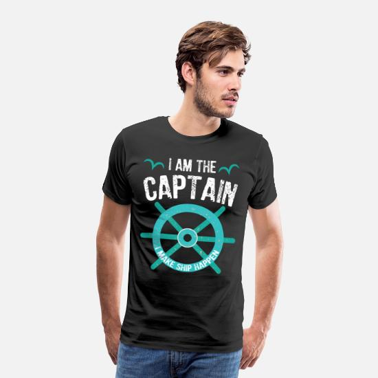 Grappig T-shirts - I Am The Captain - Funny Sail & Angel Design - Mannen premium T-shirt zwart