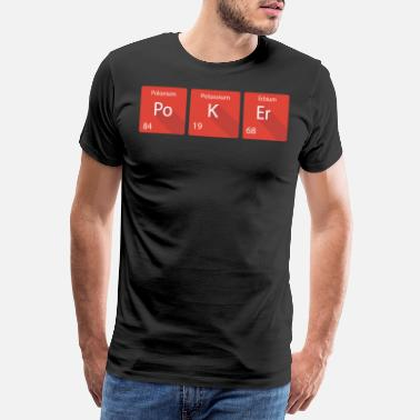 Map Periodic table poker - Men's Premium T-Shirt