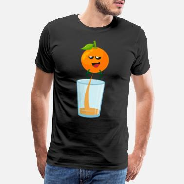 Saftig Orange - Männer Premium T-Shirt