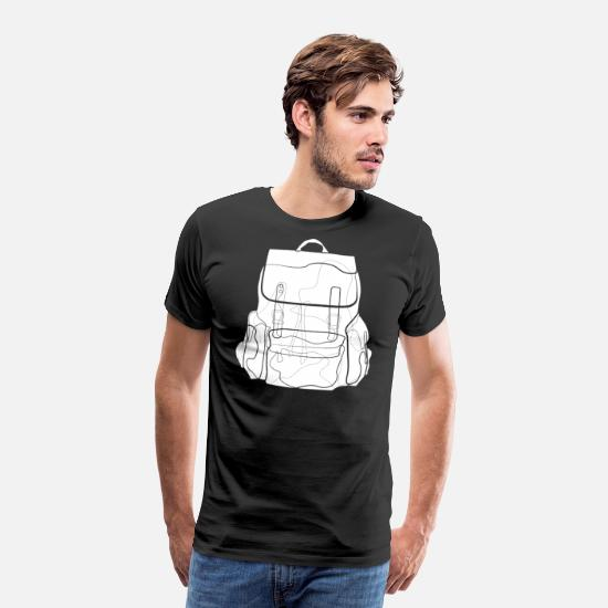 Travel T-Shirts - Backpack travel - Men's Premium T-Shirt black