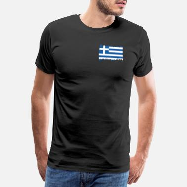 Ferieninsel Greece National Flag - brush vertical - Männer Premium T-Shirt