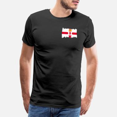 Belfast Northern Ireland National Flag - brush vertical - Männer Premium T-Shirt