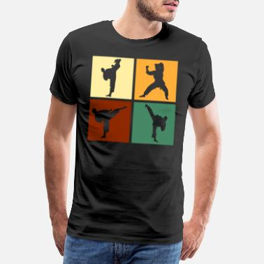 Krav Maga Karate Kicks Kicks Fighter Martial Arts - Men's Premium T-Shirt