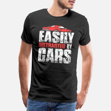 Lovers Easily distract from cars - Men's Premium T-Shirt