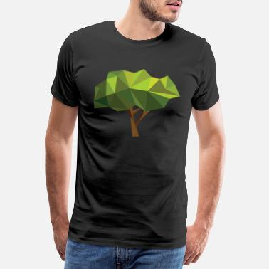 Mother Nature Tree nature forest gift idea green plant motive - Men's Premium T-Shirt