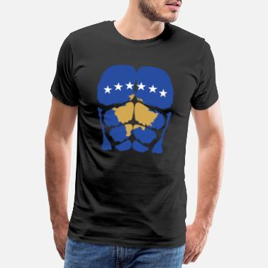 Kosovare Kosovo Sixpack proud gift idea of strong Albanians - Men's Premium T-Shirt